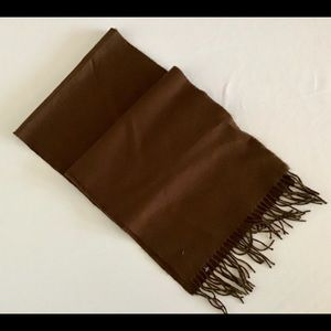 New Classic Brown Fringe Scarf
